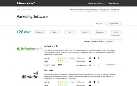 Best Marketing Software - 2017 Reviews, Pricing & Demos