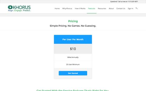 Screenshot of Pricing Page khorus.com - Pricing   Khorus - captured Nov. 3, 2014