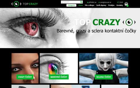 Screenshot of Home Page top-crazy.cz - Crazy čočky, kontaktní čočky crazy a barevné čočky, crazy kontaktné šošovky : TOP-crazy.cz - captured Feb. 16, 2018