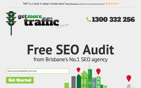 Screenshot of Landing Page getmoretraffic.com.au - Free SEO Audit | Get More Traffic - captured Oct. 28, 2014