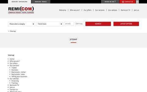 Screenshot of Site Map Page remicom.com - Remicom - captured Oct. 20, 2018