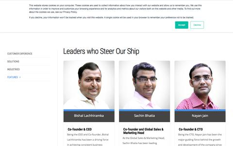 Screenshot of Team Page ameyo.com - Ameyo   leadership - captured Sept. 22, 2018