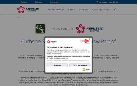 Curbside Sanitation Inc is now Republic Services