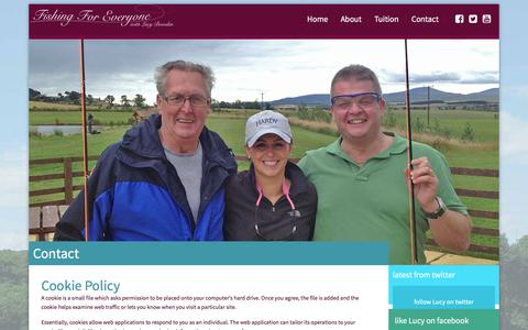 Screenshot of Privacy Page fishingforeveryone.com - Fishing For Everyone with Lucy Bowden> - captured Jan. 8, 2016