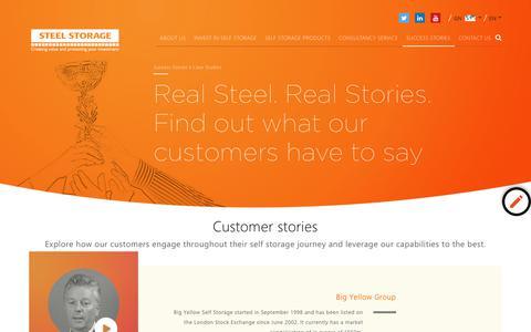 Screenshot of Case Studies Page steelstorage.net - Self Storage Construction Case Studies   Steel Storage - captured Sept. 23, 2018