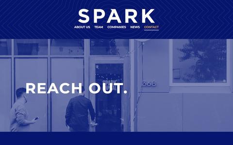 Screenshot of Contact Page sparkcapital.com - Spark Capital - Contact - captured Sept. 26, 2019