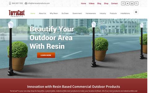 Screenshot of Home Page terracastproducts.com - Home - TerraCast ProductsTerraCast Products - captured Oct. 6, 2014
