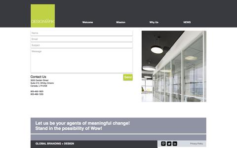 Screenshot of Contact Page designwrk.com - Contact Designwrk Toronto - captured May 10, 2017