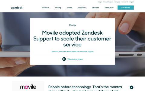 Screenshot of Support Page zendesk.com - Movile Customer Service Story | Zendesk - captured Aug. 4, 2018