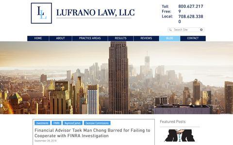 Screenshot of Blog lufranolaw.com - Lufrano Law, LLC Blog - captured Sept. 30, 2018