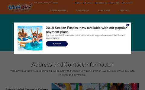 Screenshot of Contact Page emeraldpointe.com - Contact Us | Wet'n Wild - captured Oct. 18, 2018