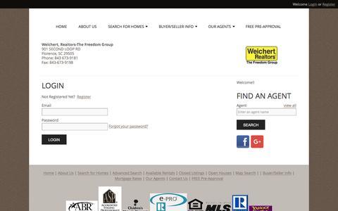 Screenshot of Login Page wrthefreedomgroup.com - User Login | Weichert Realtors The Freedom Group - captured Feb. 14, 2016