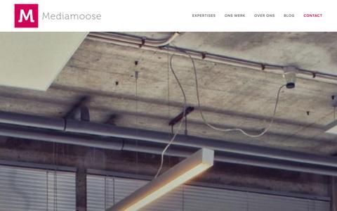 Screenshot of Contact Page mediamoose.nl - Wilt u contact met ons of een afspraak inplannen ? | Mediamoose - captured Sept. 30, 2014