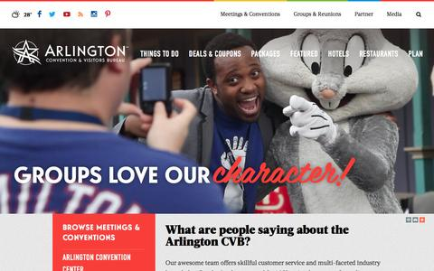 Screenshot of Testimonials Page arlington.org - Testimonials - captured Feb. 6, 2016