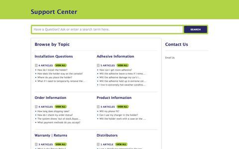 Screenshot of Support Page mobivalet.com - MobiValet |        Portal - captured Oct. 19, 2018