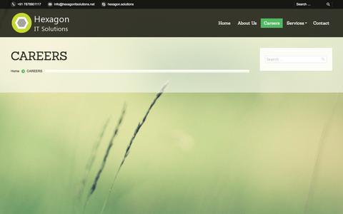 Screenshot of Jobs Page hexagonitsolutions.net - Hexagon IT Solutions |   CAREERS - captured Nov. 1, 2014
