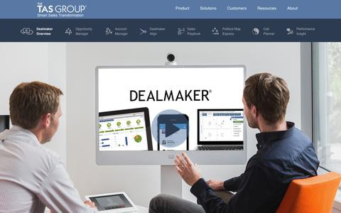Screenshot of Products Page thetasgroup.com - Increase your Sales Velocity with Dealmaker | Start your Sales Transformation - captured Oct. 26, 2014