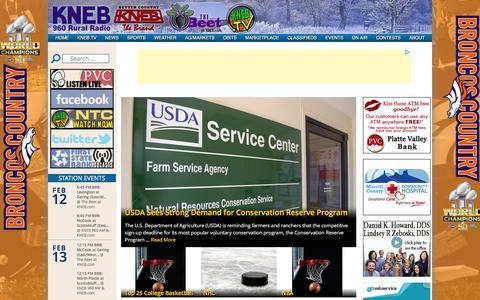 Screenshot of Press Page kneb.com - News | KNEB – 960 AM, 94.1 The Brand & The Beet - captured Feb. 12, 2016