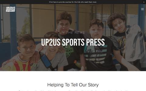 Screenshot of Press Page up2us.org - Press  — Up2Us Sports - captured Sept. 20, 2018