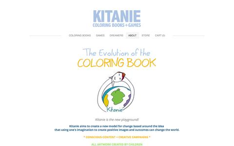 Screenshot of About Page kitanie.com - About - Kitanie Coloring Books - captured Oct. 6, 2014