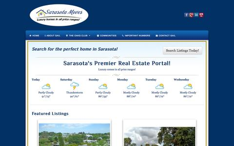 Screenshot of Home Page sarasotamoves.com - Sarasotamoves | Luxury Comes in All Price Ranges - captured Oct. 3, 2014