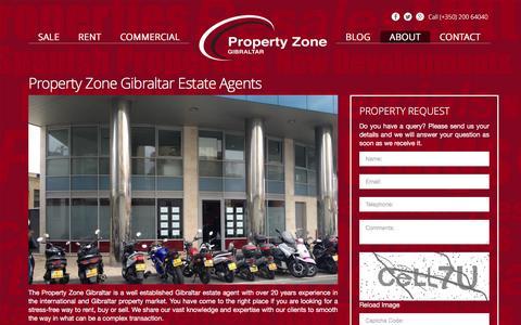Screenshot of About Page propertyzonegibraltar.com - Gibraltar Estate Agents - Property for rent and sale | Property Zone Gibraltar - captured Nov. 26, 2015