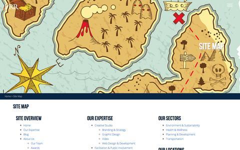 Screenshot of Site Map Page prrbiz.com - Site Map | PRR Biz - captured Jan. 23, 2016