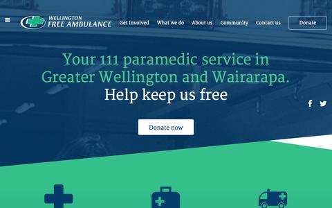Screenshot of Home Page wfa.org.nz - Home - captured Oct. 6, 2014