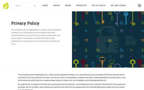 Screenshot of Privacy Page cssjockey.com - Privacy Policy | CSSJockey.com - captured Dec. 6, 2015