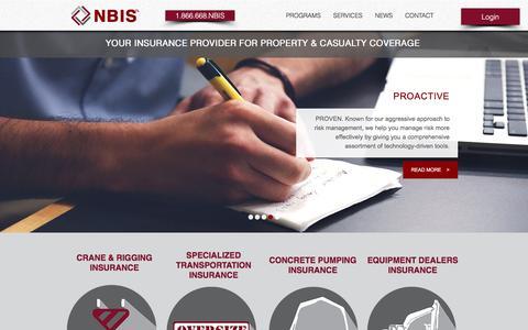 Screenshot of Home Page nbis.com - NBIS.com | YOUR INSURANCE PROVIDER FOR PROPERTY & CASUALTY INSURANCE - captured Nov. 13, 2017