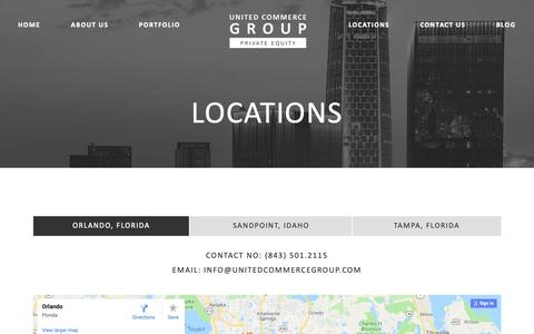 Screenshot of Locations Page unitedcommercegroup.com - Locations – United Commerce Group - captured Oct. 18, 2018