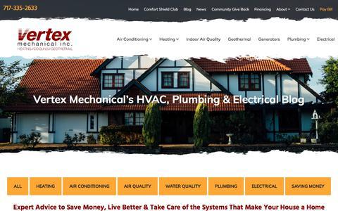 Screenshot of Blog vertex-mechanical.com - HVAC Blog | Vertex Mechanical Inc - captured Sept. 21, 2018