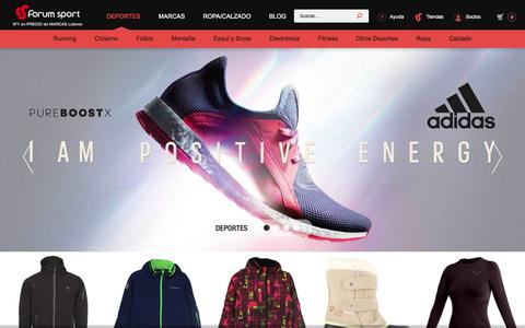 Screenshot of Home Page forumsport.com - Forum Sport   No 1 en precios de marcas líderes - captured Feb. 10, 2016