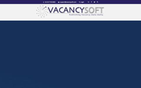Screenshot of Signup Page vacancysoft.com - Vacancysoft | Publishing Vacancy Data Daily - captured Nov. 4, 2014