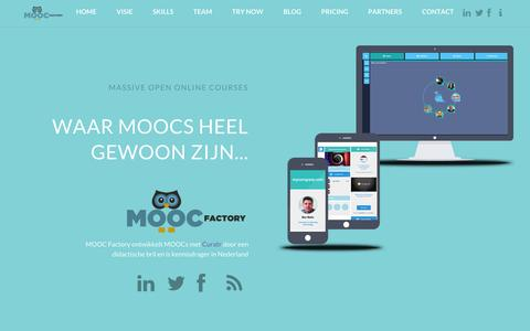 Screenshot of Home Page Contact Page Team Page Pricing Page moocfactory.nl - MOOC Factory - captured Sept. 30, 2014