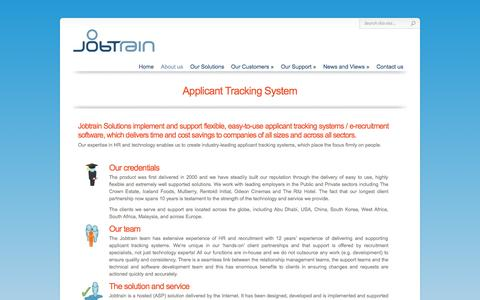 Screenshot of About Page jobtrainsolutions.co.uk - Applicant Tracking System | Applicant Tracking Systems / e-Recruitment Software | Jobtrain Solutions - captured Oct. 29, 2014