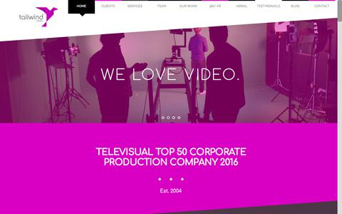 Screenshot of Home Page tailwindmedia.co.uk - Tailwind Media - captured June 11, 2017