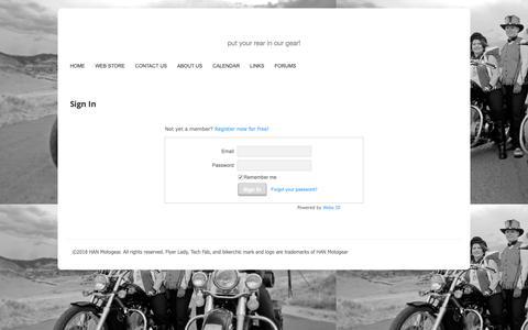 Screenshot of Login Page hanmotogear.com - Login - captured Nov. 4, 2018