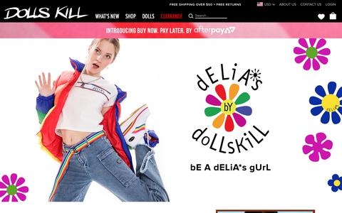 Screenshot of Home Page dollskill.com - Online Boutique for the Misfits & Miss Legits | Dolls Kill - captured Nov. 4, 2018