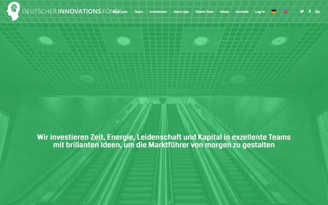 Screenshot of Home Page dif.vc - DIF - Deutscher Innovations Fonds - captured Jan. 24, 2015