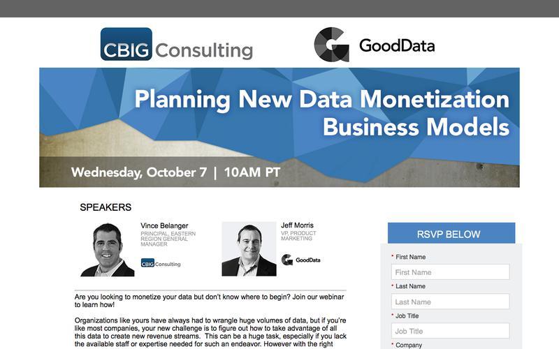 Planning New Data Monetization Business Models