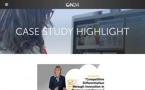 Screenshot of Case Studies Page on24.com - Case Study: SAP BI   ON24 - captured Oct. 12, 2017