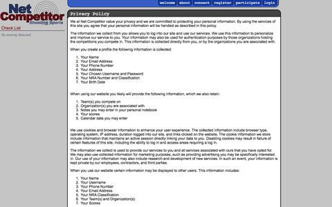 Screenshot of Privacy Page netcompetitor.com - Net Competitor :: Privacy Policy - captured Nov. 3, 2014