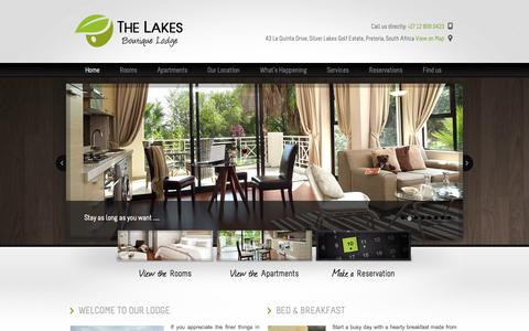 Screenshot of Home Page thelakeslodge.co.za - Homepage » The Lakes Boutique Lodge - captured Oct. 10, 2014