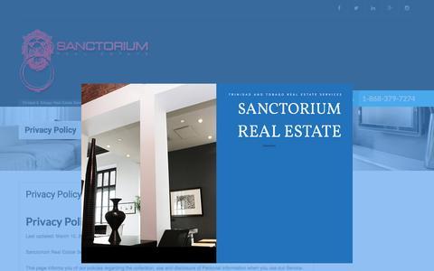 Screenshot of Privacy Page sanctorium-tt.com - Privacy Policy | Sanctorium Real Estate Services - captured Nov. 18, 2016