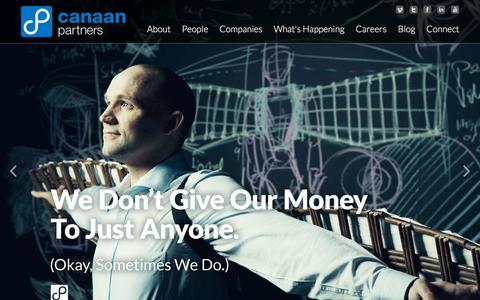 Screenshot of Home Page canaan.com - Home  | Canaan - captured Nov. 17, 2015