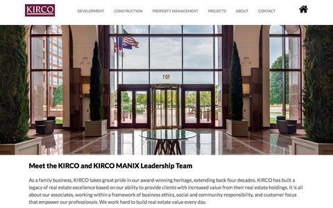 Screenshot of Team Page kirco.com - Kirco |  Leadership - Kirco - captured June 9, 2017