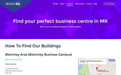 Screenshot of Locations Page bucks-biz.co.uk - Our Locations - Bucks Biz Business Centres - captured Feb. 8, 2016