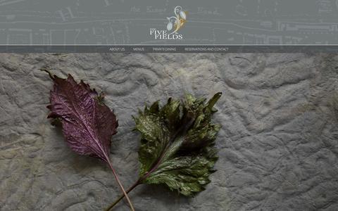 Screenshot of Home Page fivefieldsrestaurant.com - The Five Fields Restaurant | A New Restaurant for the Heart of Chelsea - captured Dec. 13, 2015