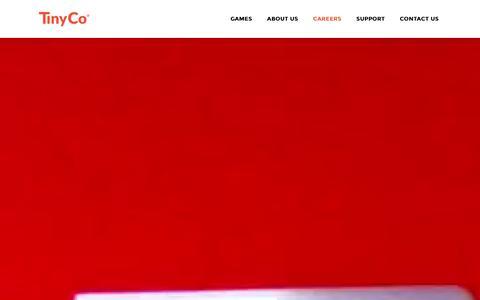 Screenshot of Jobs Page tinyco.com - TinyCo |   Careers - captured Dec. 18, 2015